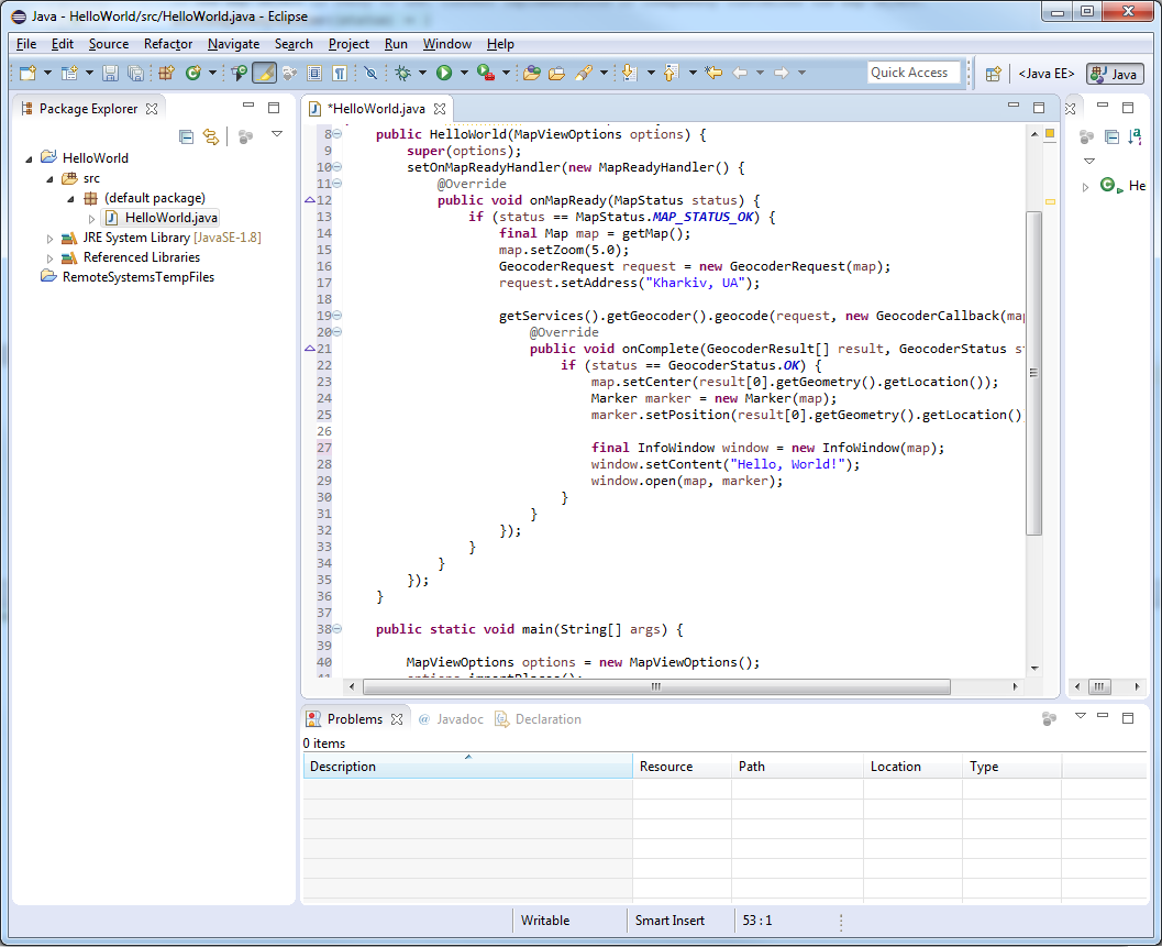 JxMaps in Eclipse - 7